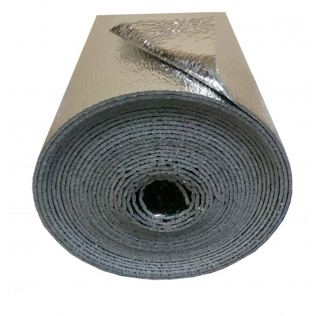 8m² (16m x 50cm x 2mm) - Double Aluminium Reflective Thermal Sound Vapor Insulation