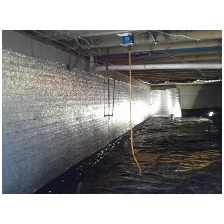 Reflective Crawl Space Basement Insualtion Radiant Shield Mould Free